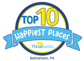Top 10 Happiest Places in Bethlehem, PA Award