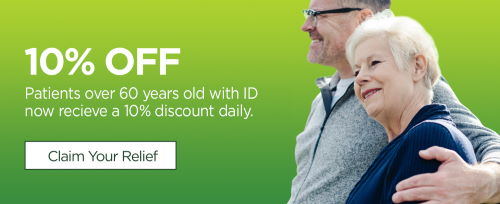 10% off patients over 60 years old with ID